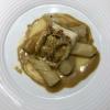 Zander, Schwarzwurzeln, Dashi & Wasabi-Butter-Sauce