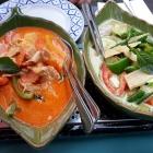 Foto zu Restaurant Na-ree Thai: Gerichte auf der Warmhalteplatte