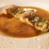 Sankt-Petersfisch, Drachenfisch und isländische Langustine  auf Bouillabaisse-Emulsion