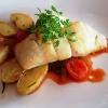 Heilbutt – Lauch-Tomatengemüse – Rosmarinkartoffel