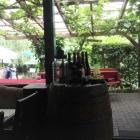 Foto zu Schwäke Waldgaststätte: Blick zur Terrasse