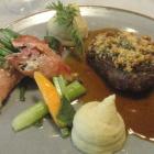 Foto zu Schwäke Waldgaststätte: Steak und Beilage