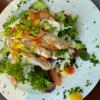 """Salatteller """"Gut Hungenbach"""" mit gebratenen Hähnchenstreifen"""