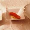 Ravioli mit Krustentierfüllung - Gebeizte Lachsforelle mit Honig–Senf-Sauce -  Krokette  vom Bacalau