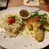 """Gebratenes Steinbeißerfilet """"Grenobler Art"""" auf Zitronenbutter mit Kapern, Patnareis"""