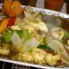 Gi Pahd Prig, Wokgemüse mit Hühnchen