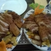 Ente mit Erdnuss-Sauce