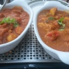 Chicken Chili Masala (links) und Chicken Patulla (rechts)