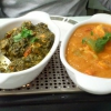 India Palace - Murgh Palak (links) und Chicken Patulla (rechts)