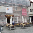 Foto zu Leyhausen: Cafe Leyhausen Eingerüstet am 22.10.18