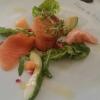 3erlei Lachs mit Melone, Granatapfel und Avocado