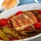 Foto zu Cafeteria im Schwimmbad: Gebackener Fetakäse mit Peperoni