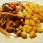 Foto zu Castell: Seeteufelmedaillon, Ratatouille, Kartoffeln