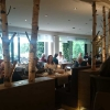 Blick ins Restaurant, im Hintergrund der See :-)