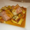 Schweinefilet im Bacon Mantel mit Mango-Papaya Chutney und leckeren Gorgonzola Kartoffeln