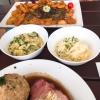 Krautsalat und Kartoffelsalat