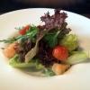 Blattsalat mit Pomelo-Kartoffel-Vinaigrette