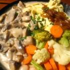 Foto zu Bierstadel: Spätzle mit Gemüse und Rahmchampignons