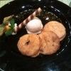 Apfelküchle in Zimtzucker mit Vanilleeis