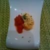 Tomatensugo mit einer Pilzcreme