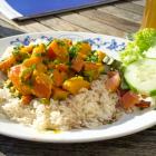 Foto zu Lehner's Wirtshaus-Goldenes Kreuz: Kürbiscurry mit Reis