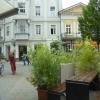 Blick nach draußen auf den Ludwigsplatz