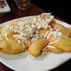 Foto zu Olympia: Kartoffelchips (Bratkartoffeln) mit Schafskäsehaube