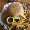 ... und so sieht der Burger wirklich aus