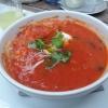 Toskanische Tomatensuppe mit Ricotta