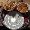 Chicken do Piaza  - mit Schärfegrad II- und indischem Brot (11,60€