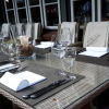 Die Tische außen