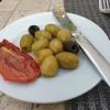 Oliven und Tomate