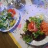 selbst zusammengestellte Salate