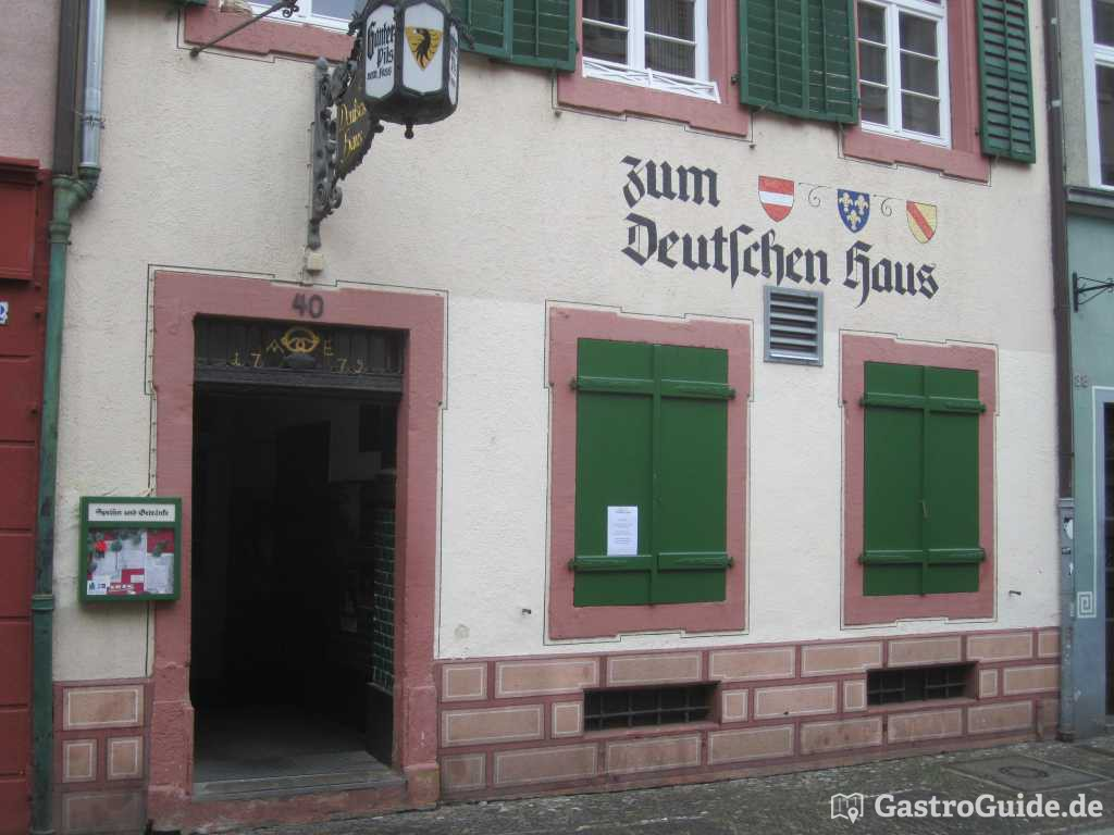 zum deutschen haus restaurant gasthaus in 79098 freiburg im breisgau. Black Bedroom Furniture Sets. Home Design Ideas