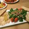 Feldsalat mit geräucherten Heilbutt