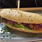 Foto zu Brauereigasthof Drei Kronen: 28.06.21. Filet Sandwich Filetspitzen vom Schweinefilet