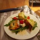 Tortilla mit Spinat und Gorgonzola