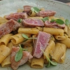 Rigatoni, Thunfisch, Muscheln, Tomaten
