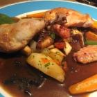 Foto zu Robichon: Stubenküken, Chorizo belota, Waldpilze