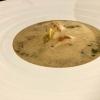 Krustentier-Rahmsuppe mit Champagner, Estragon & Ravioli