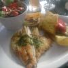 Duett von Edelfischen mit Polenta und Gemüse