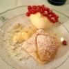 Apfel-Blätterteig-Tarte mit Vanillesauce und Walnußeis