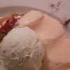 Pfirsich/Zabaglione/Eis