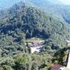 Blick von Burg Trifels auf das Restaurant Barbarossa