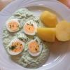 Frankfurter grüne Soße mit gek. Eiern und Salzkartoffeln