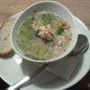 Klare Fischsuppe mit reichlich Fischeinlage für 5,00 €