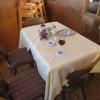 mein Tisch am Ende des Wintergartens