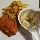 Foto zu Zum Bembelsche: Frankfurter Schnitzel mit Bratkartoffeln und Grüner Soße