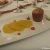 Warmes Cranberry Küchlein / Gewürzorangen / Topfen-Vanilleeis