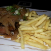 300 gr. Rumpsteak mit Pommes